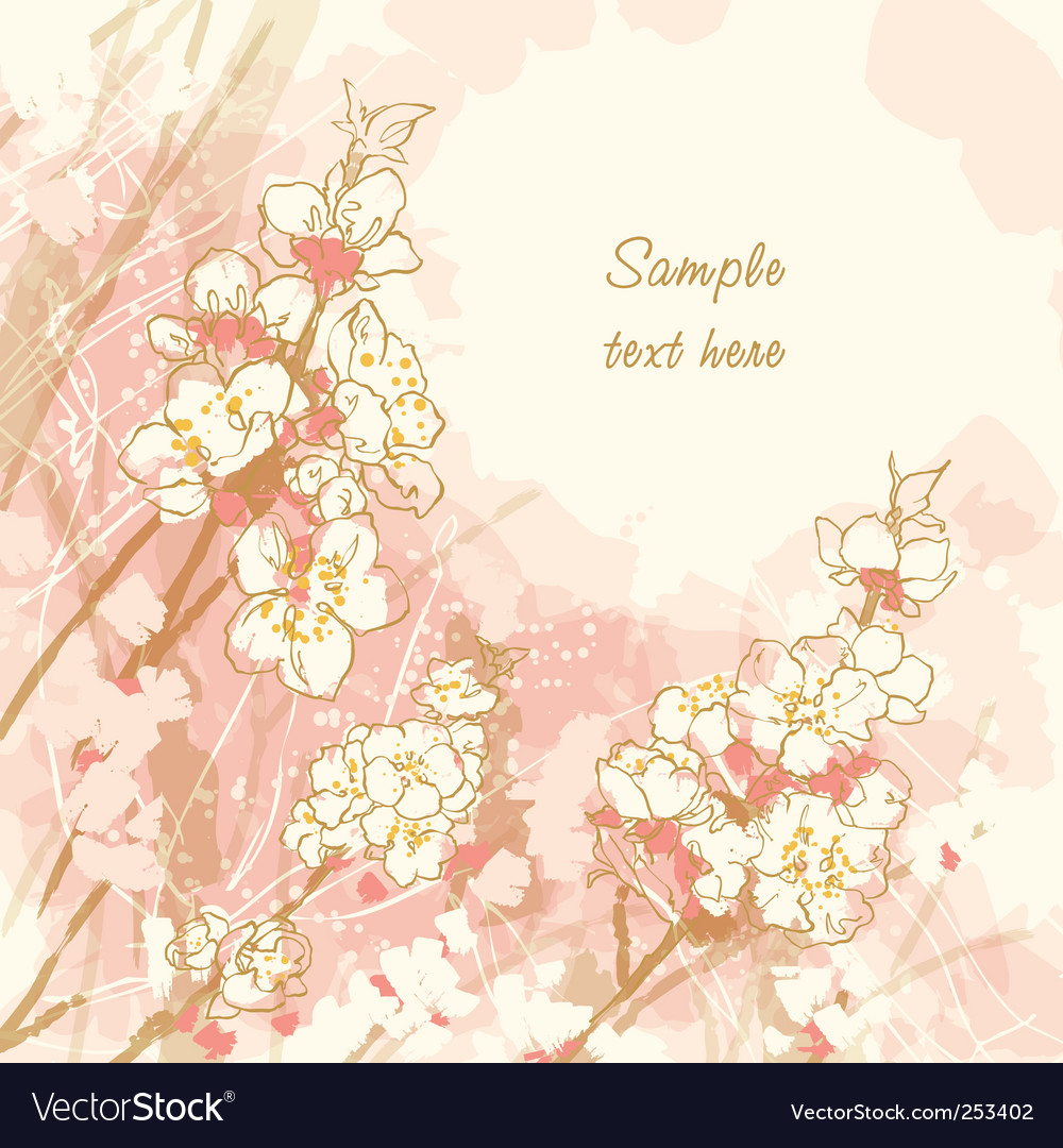 Cherry blossom vector | Price: 3 Credit (USD $3)