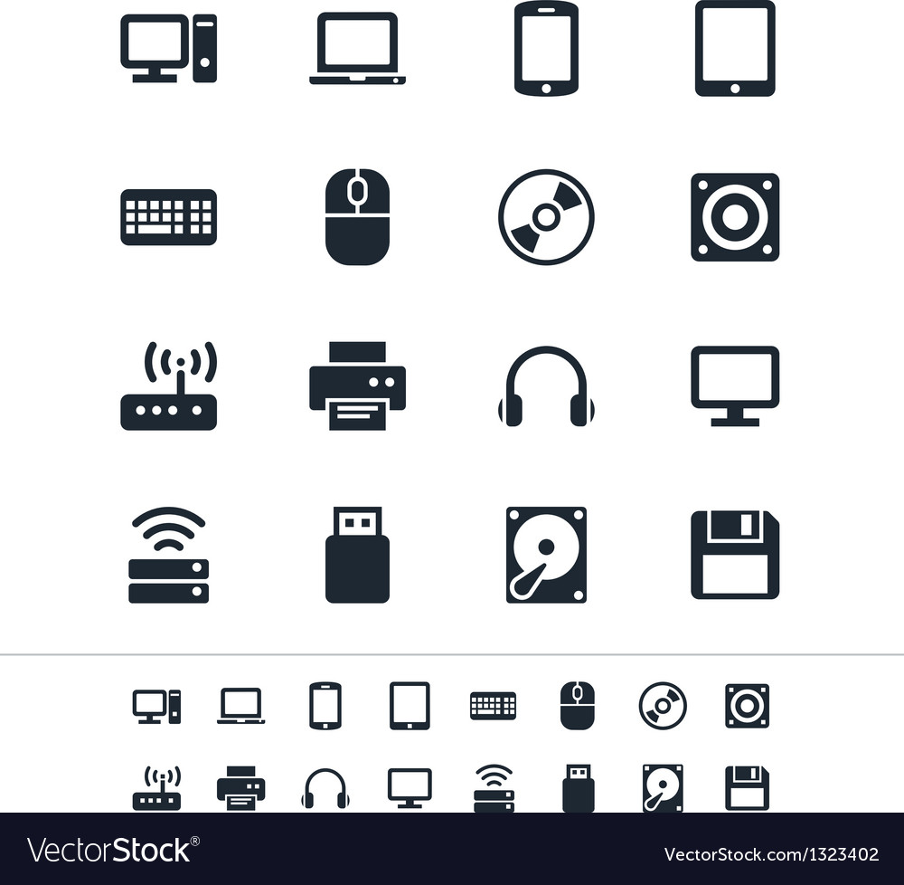 Computer icons vector | Price: 1 Credit (USD $1)