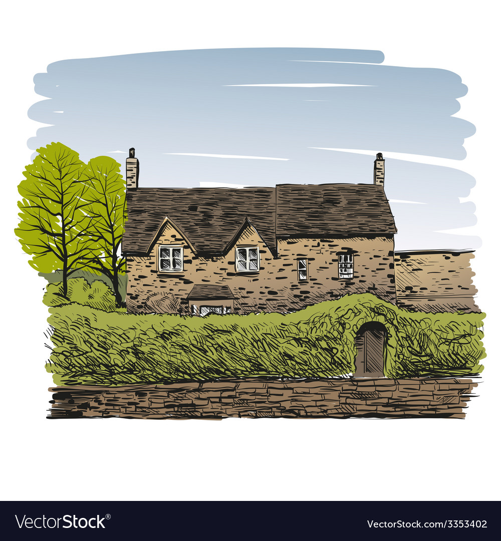 Hand drawn house vector   Price: 1 Credit (USD $1)