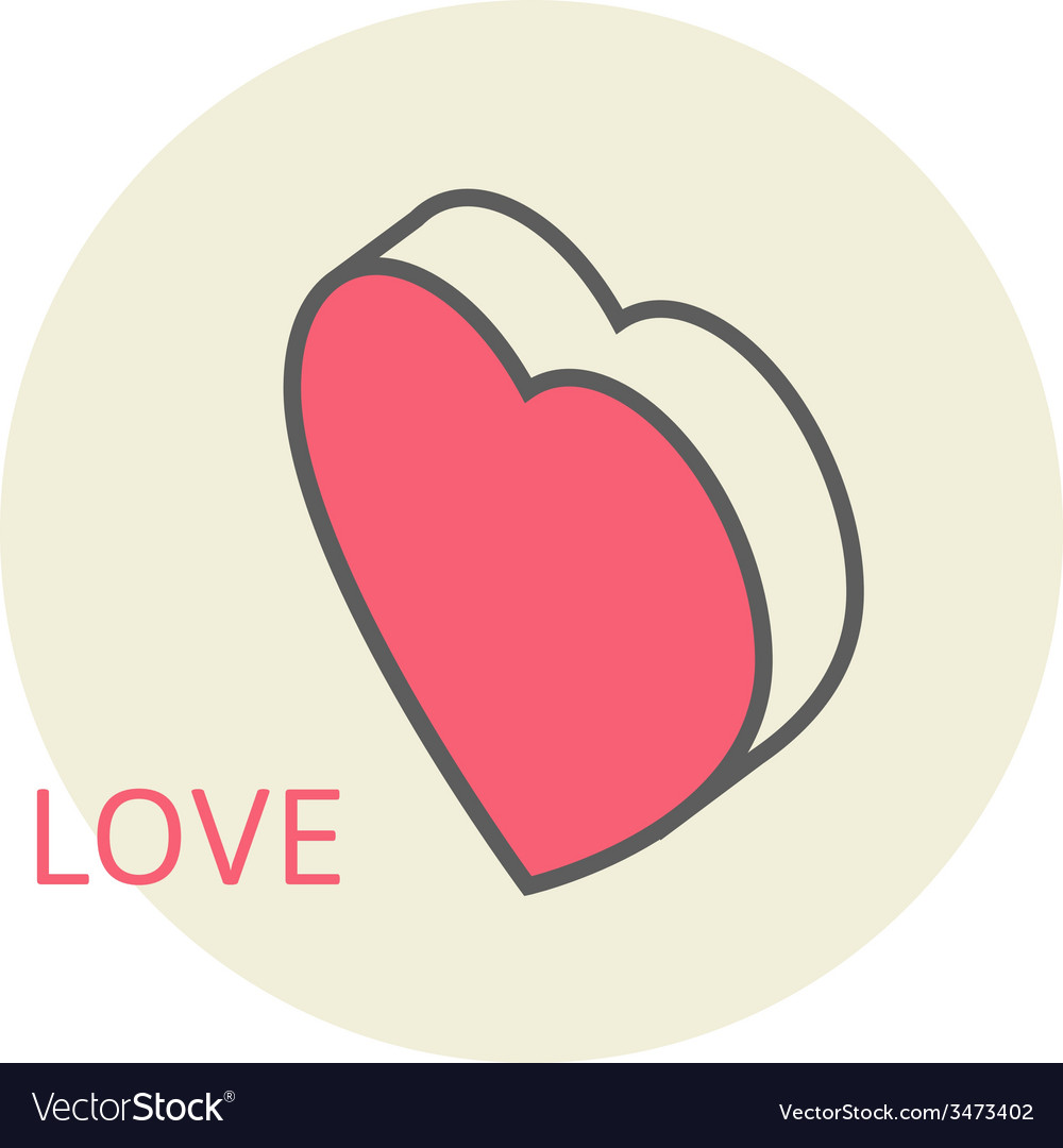 Isometric large heart in honor of valentines day vector | Price: 1 Credit (USD $1)