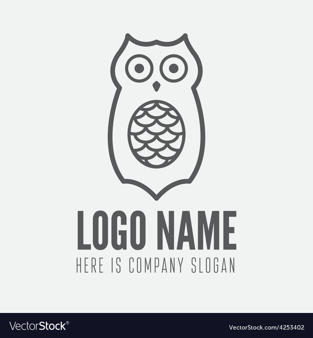 Logo label badge emblem or logotype element vector | Price: 1 Credit (USD $1)