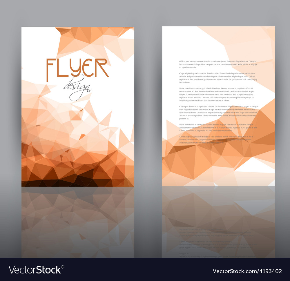 Low poly design for flyer template vector | Price: 1 Credit (USD $1)