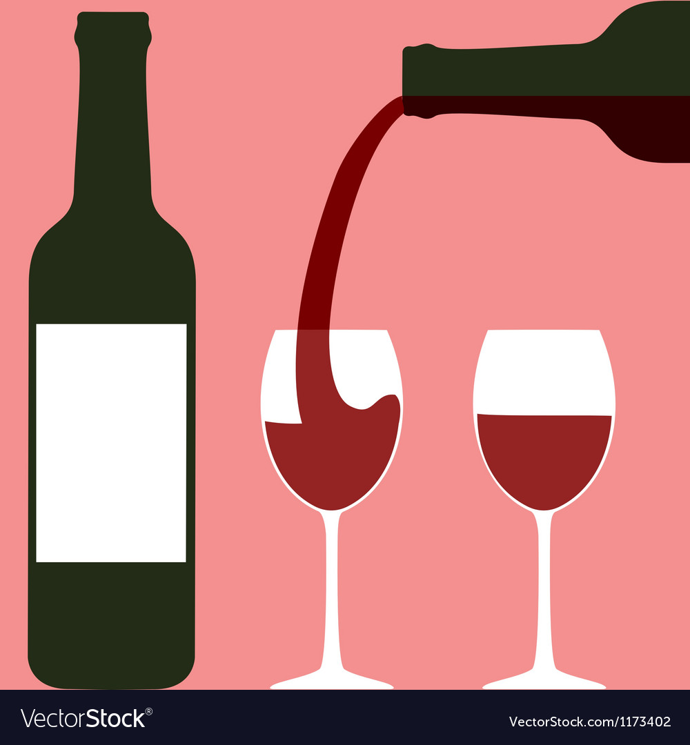 Pouring wine vector | Price: 1 Credit (USD $1)