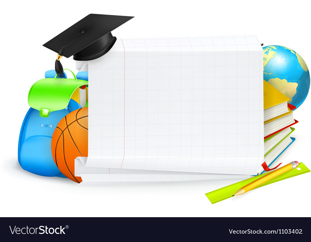 School banner vector | Price: 1 Credit (USD $1)