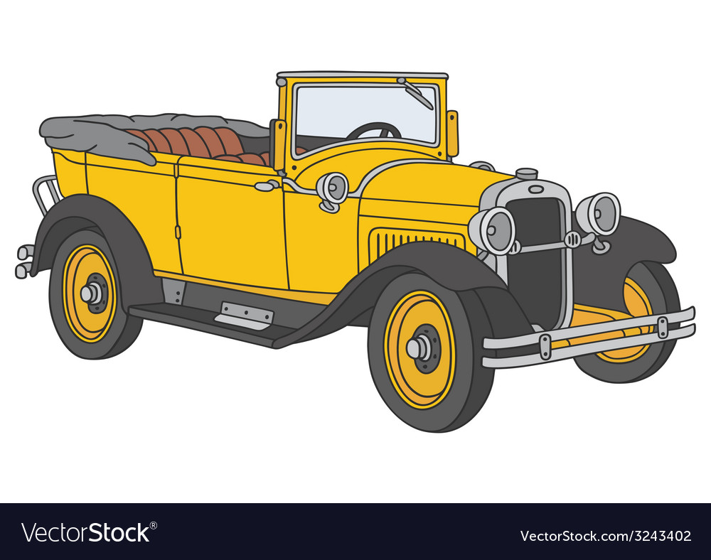 Vintage cabriolet vector | Price: 1 Credit (USD $1)