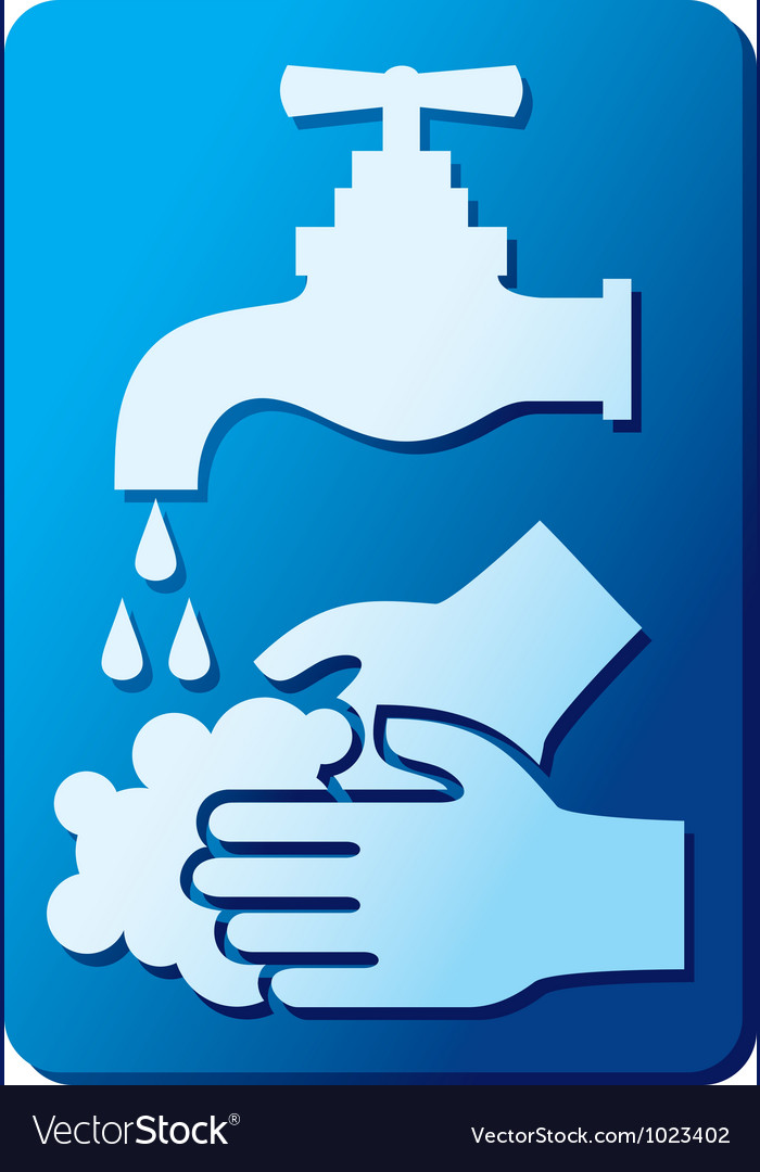 Wash your hands sign vector | Price: 1 Credit (USD $1)