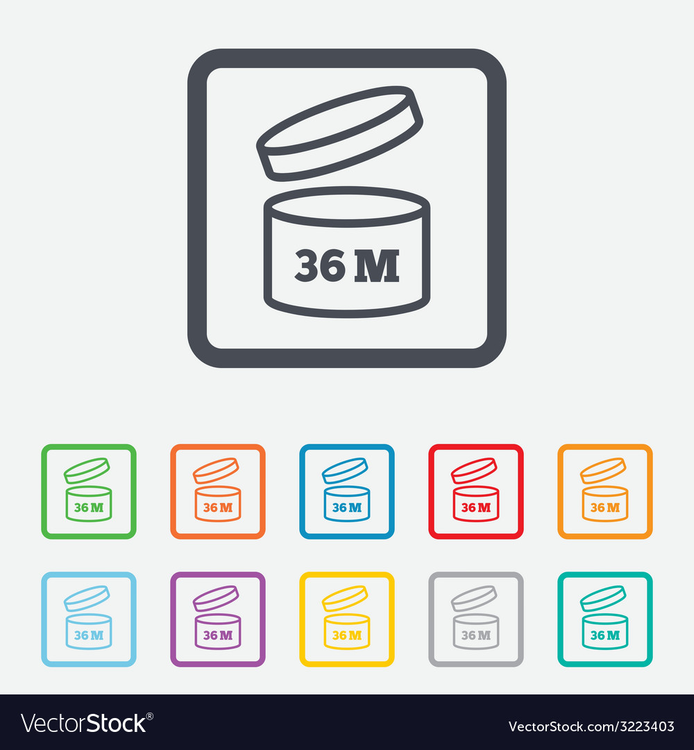 After opening use 36 months sign icon vector | Price: 1 Credit (USD $1)