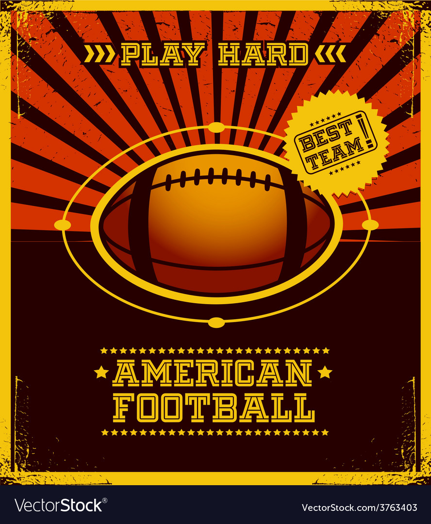 American football poster design vector | Price: 1 Credit (USD $1)