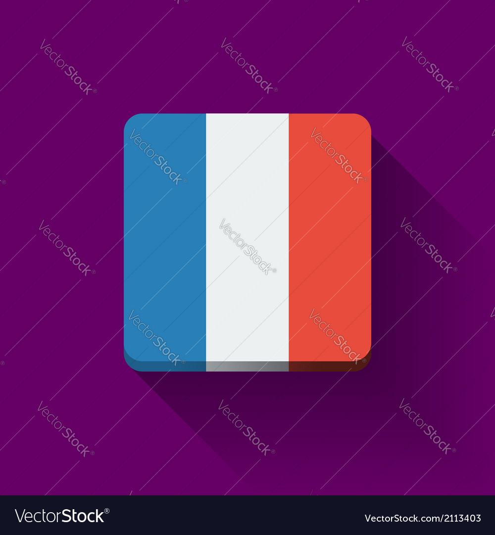 Button with flag of france vector | Price: 1 Credit (USD $1)