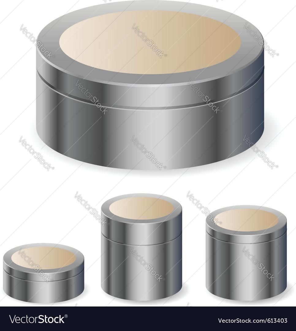 Cream boxes vector | Price: 1 Credit (USD $1)