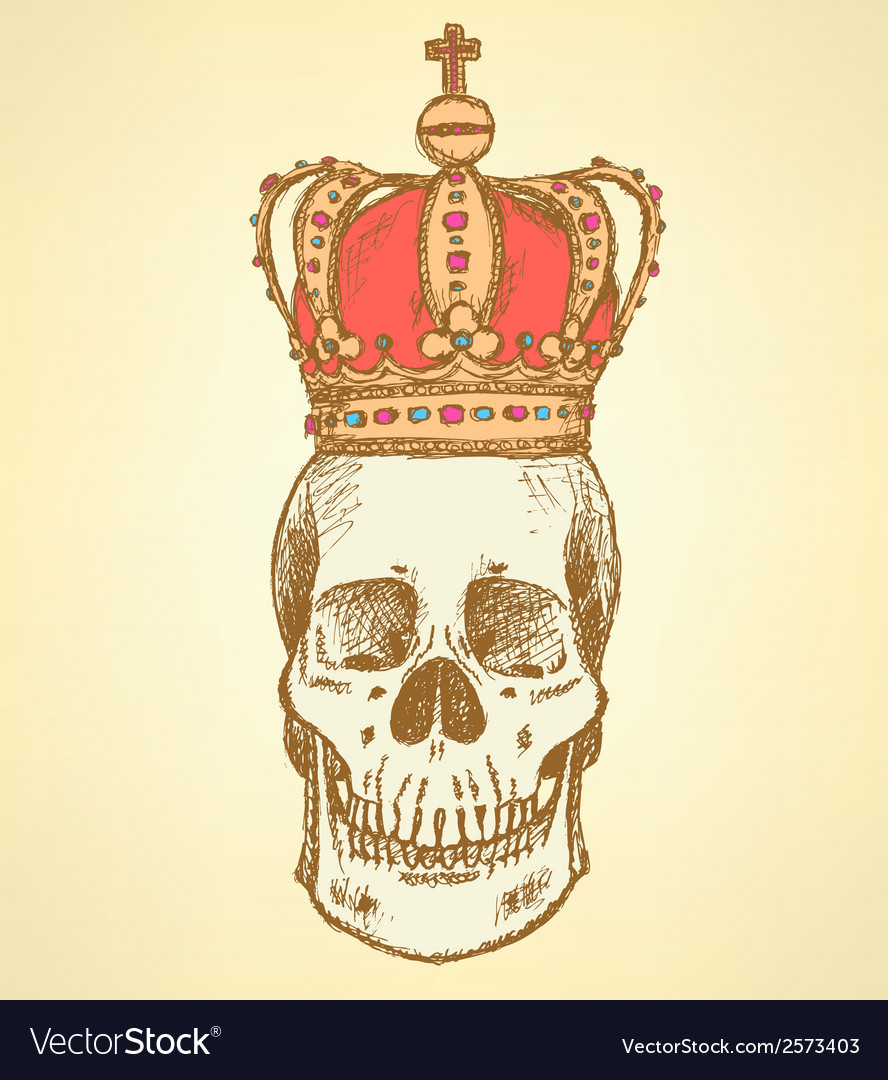 Crown scull vector | Price: 1 Credit (USD $1)