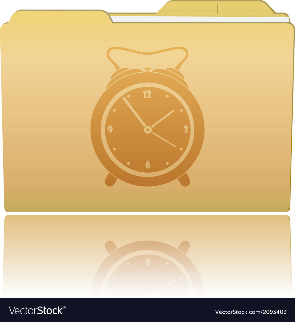 Folder with alarm clock vector | Price: 1 Credit (USD $1)