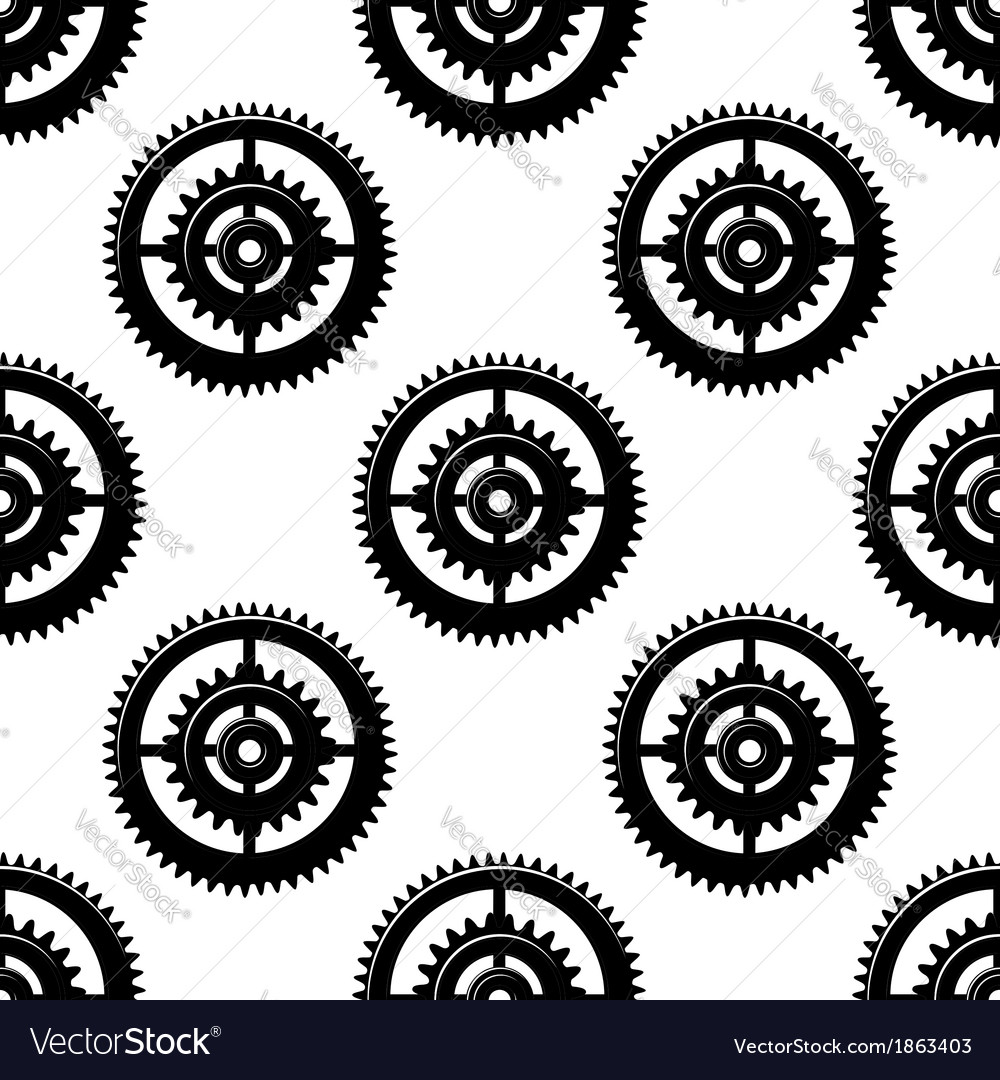 Gears and pinions seamless pattern vector | Price: 1 Credit (USD $1)