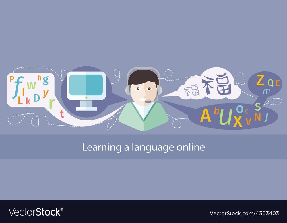 Image of teaching foreign languages vector | Price: 1 Credit (USD $1)
