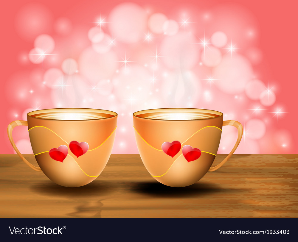 Love with coffee vector | Price: 1 Credit (USD $1)