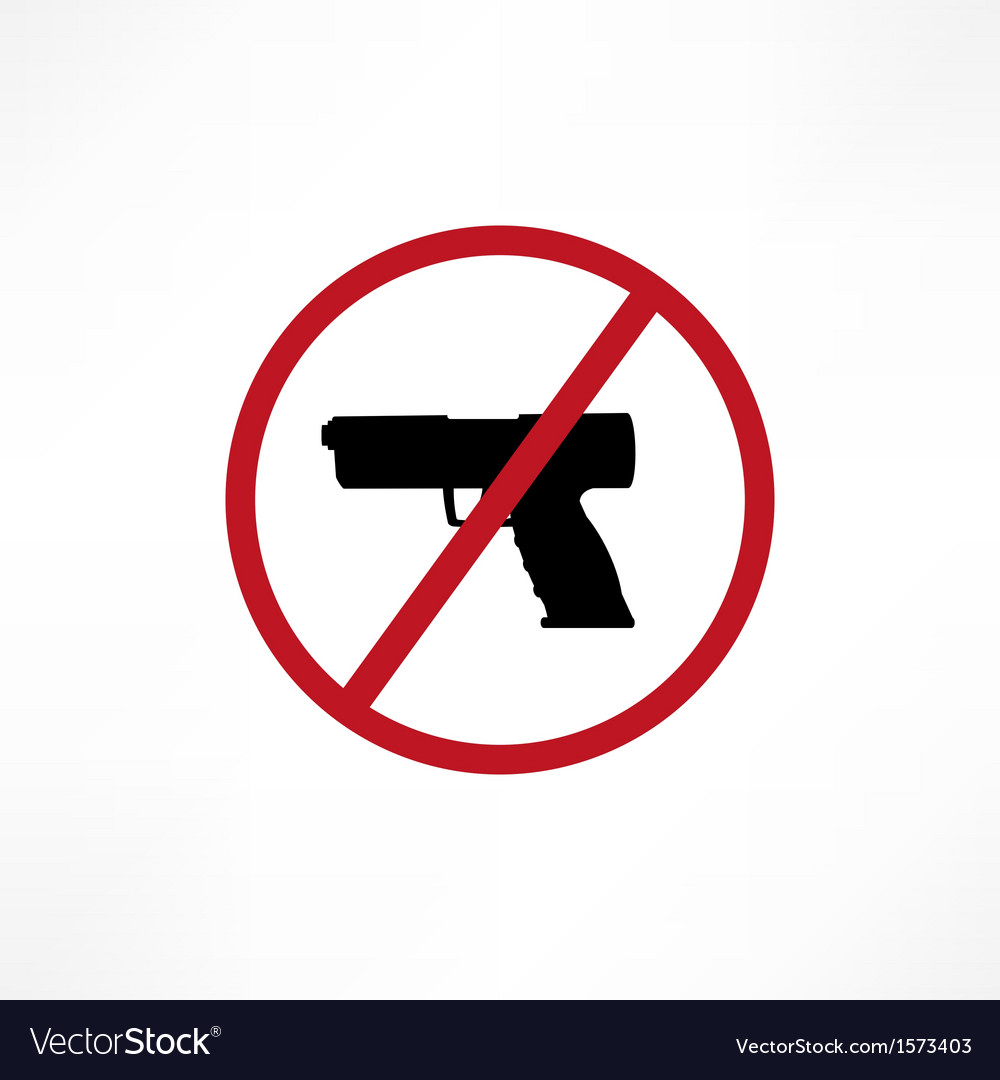 No firearms symbol vector | Price: 1 Credit (USD $1)