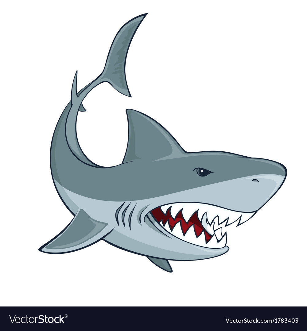 Shark sign vector | Price: 1 Credit (USD $1)