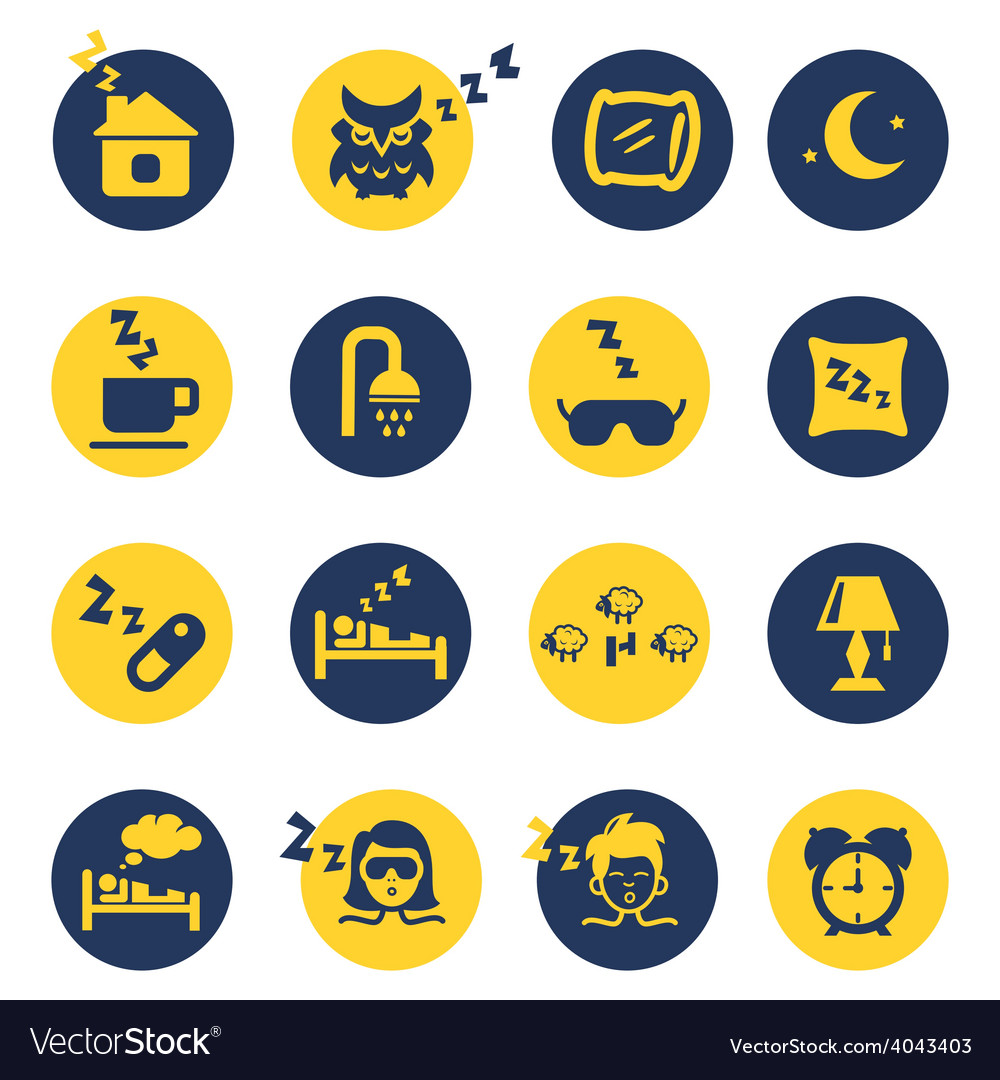 Sleep and insomnia icons vector | Price: 1 Credit (USD $1)