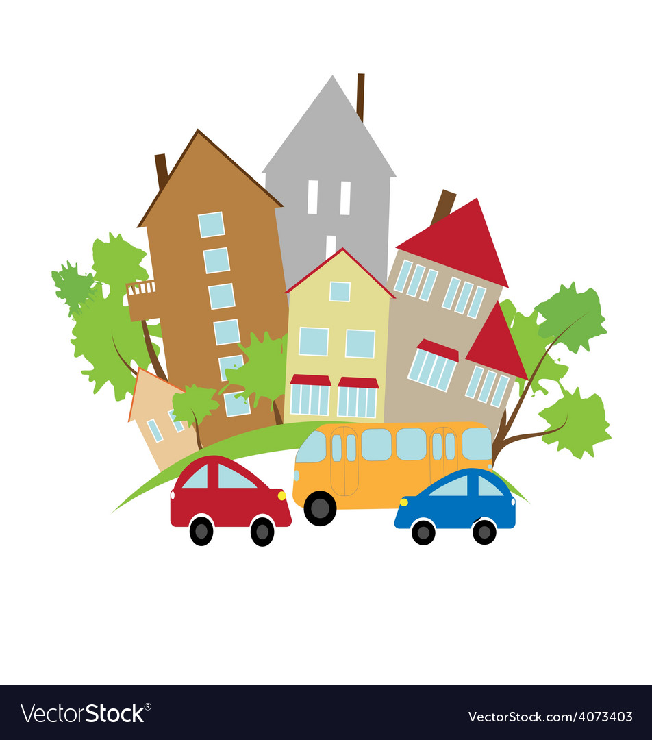 Small town vector   Price: 1 Credit (USD $1)