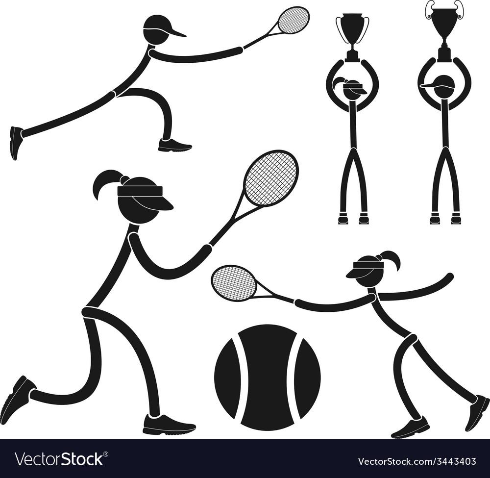 Tennis vector | Price: 1 Credit (USD $1)