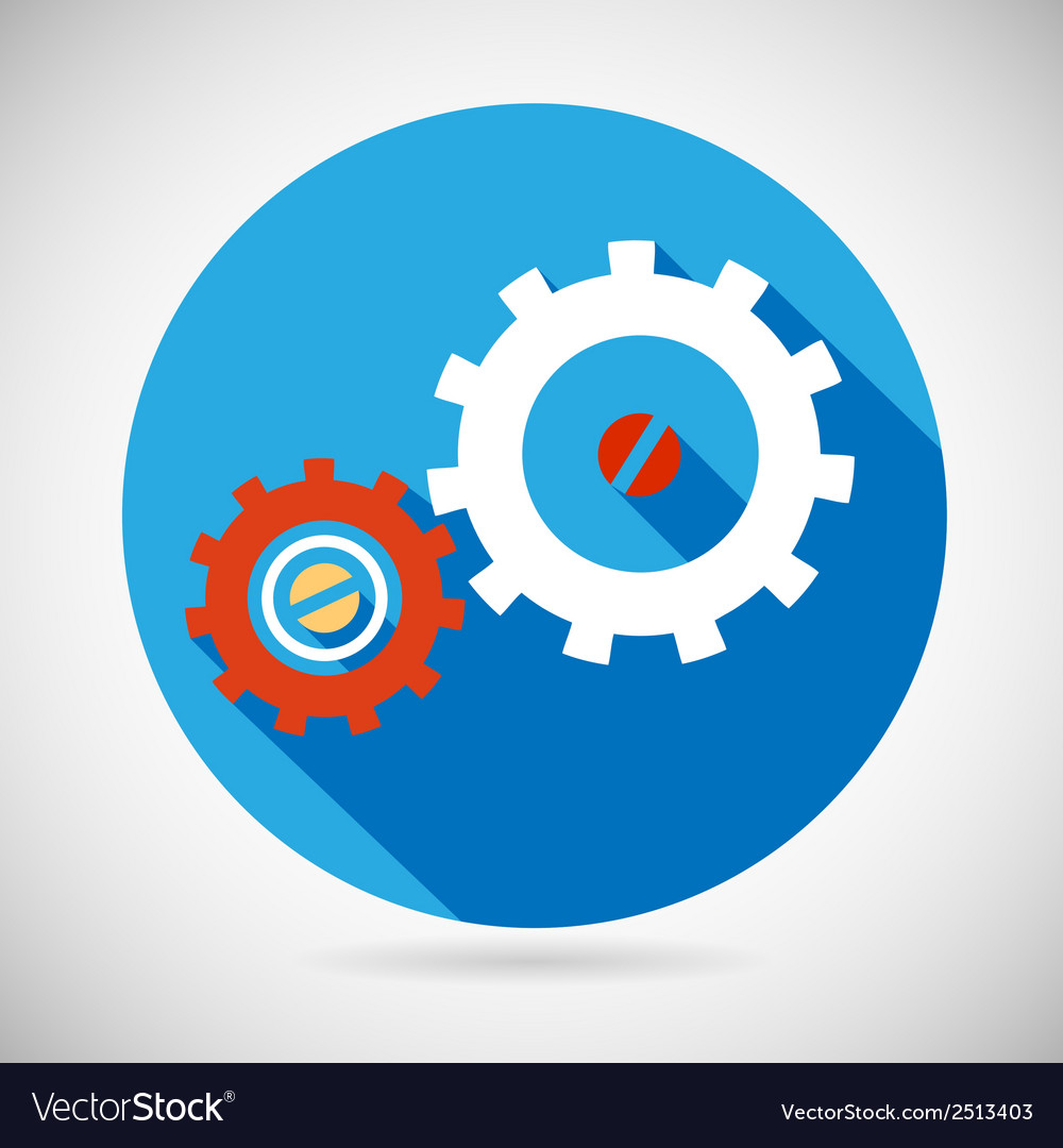 Troubleshooting symbol gears icon on stylish vector | Price: 1 Credit (USD $1)