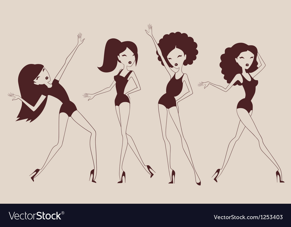 Woman dancing vector | Price: 3 Credit (USD $3)