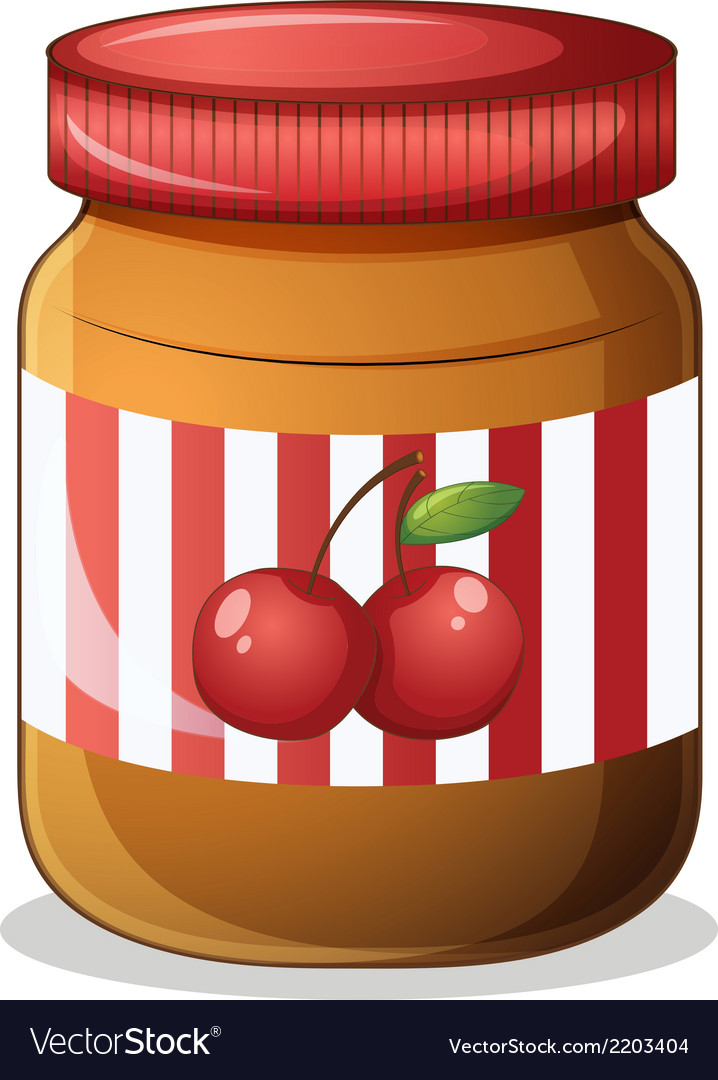 A cherry jam vector | Price: 1 Credit (USD $1)