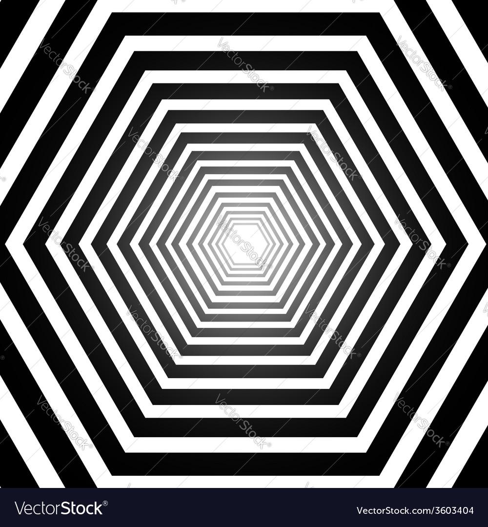 Abstract hexagonal optical vector | Price: 1 Credit (USD $1)