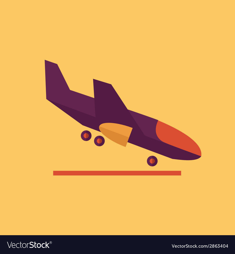 Aircraft transportation flat icon vector | Price: 1 Credit (USD $1)