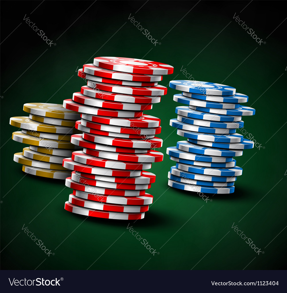 Casino chips vector | Price: 1 Credit (USD $1)