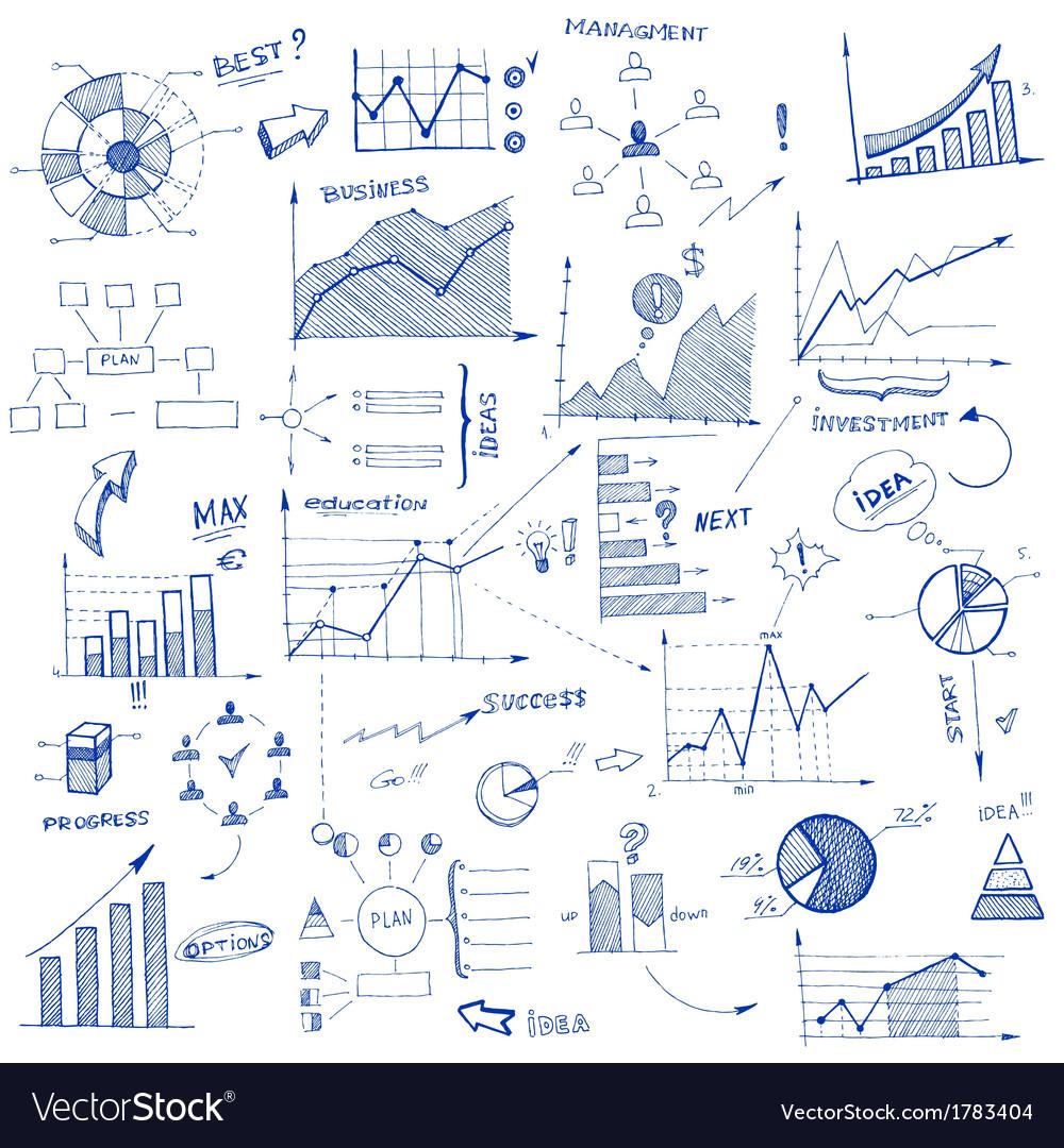 Doodle infographic design elements vector | Price: 1 Credit (USD $1)