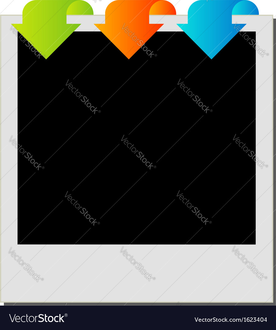 Photography polaroid with arrows vector | Price: 1 Credit (USD $1)