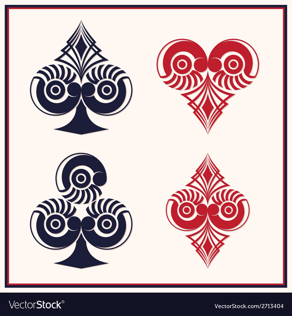 Playing card circle style vector | Price: 1 Credit (USD $1)