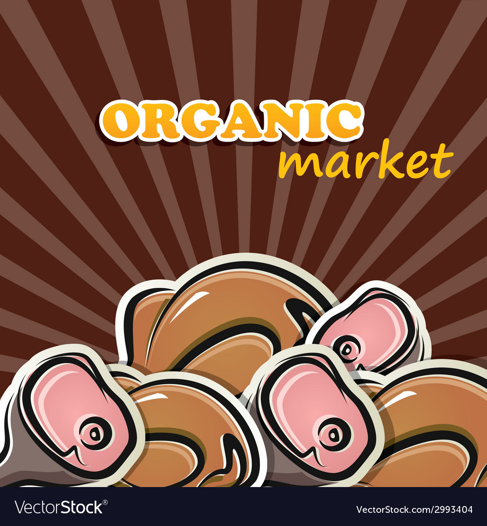 Poultry and meat organic food concept vector | Price: 1 Credit (USD $1)