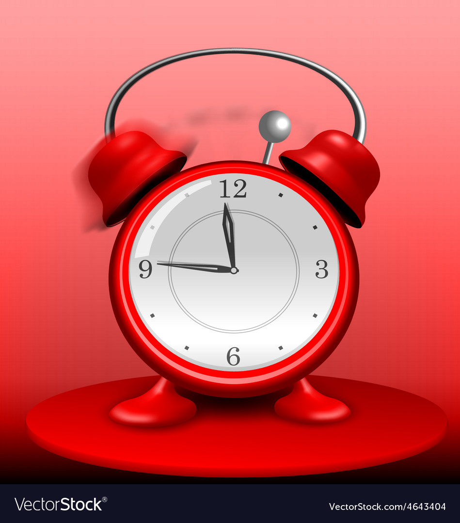 Red alarm clock ringing wildly vector | Price: 1 Credit (USD $1)