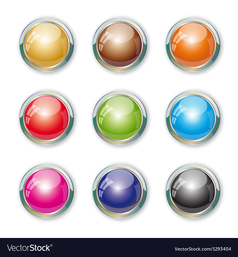 Set with colorful buttons vector | Price: 1 Credit (USD $1)