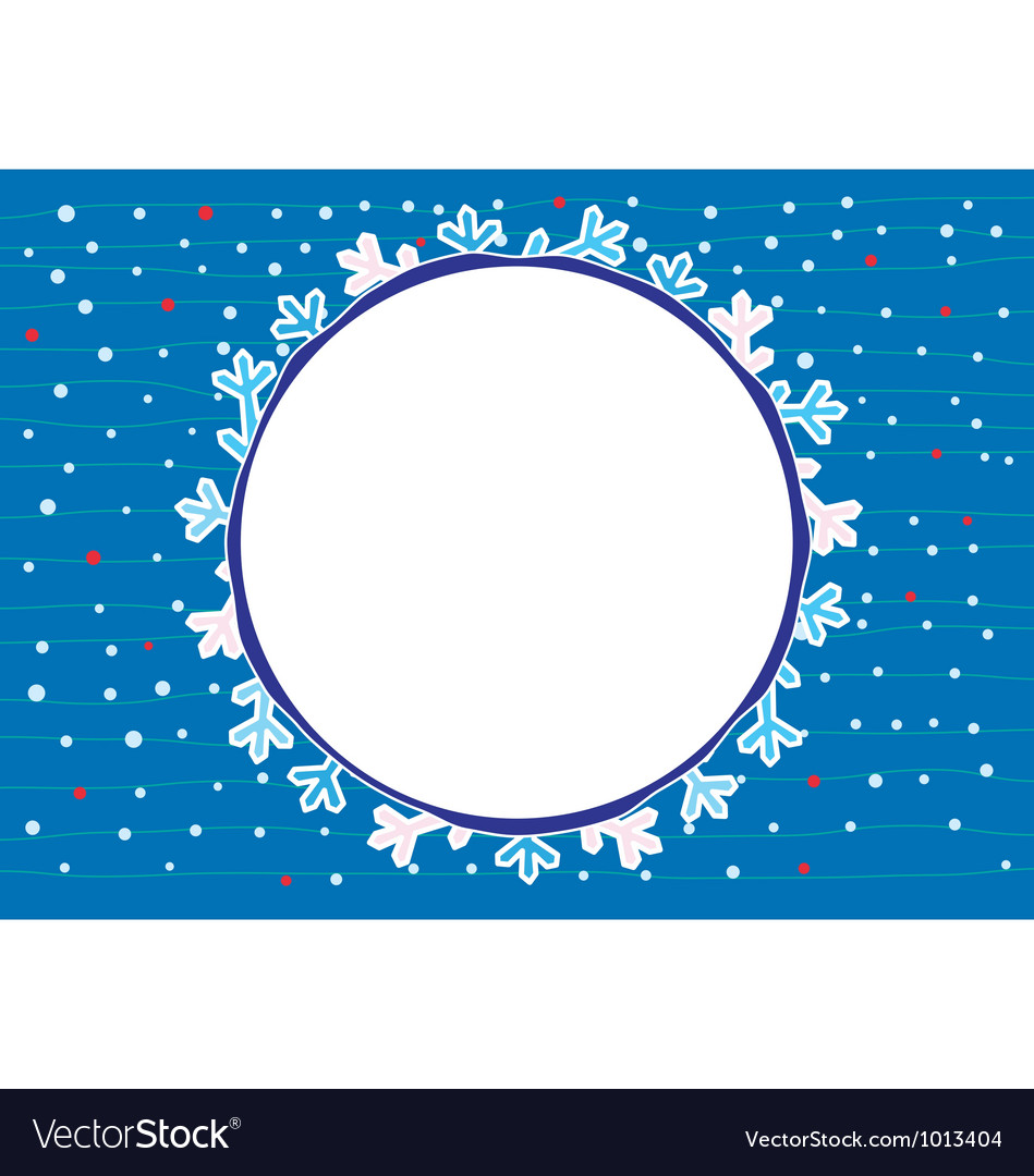 Snow flake around us vector | Price: 1 Credit (USD $1)