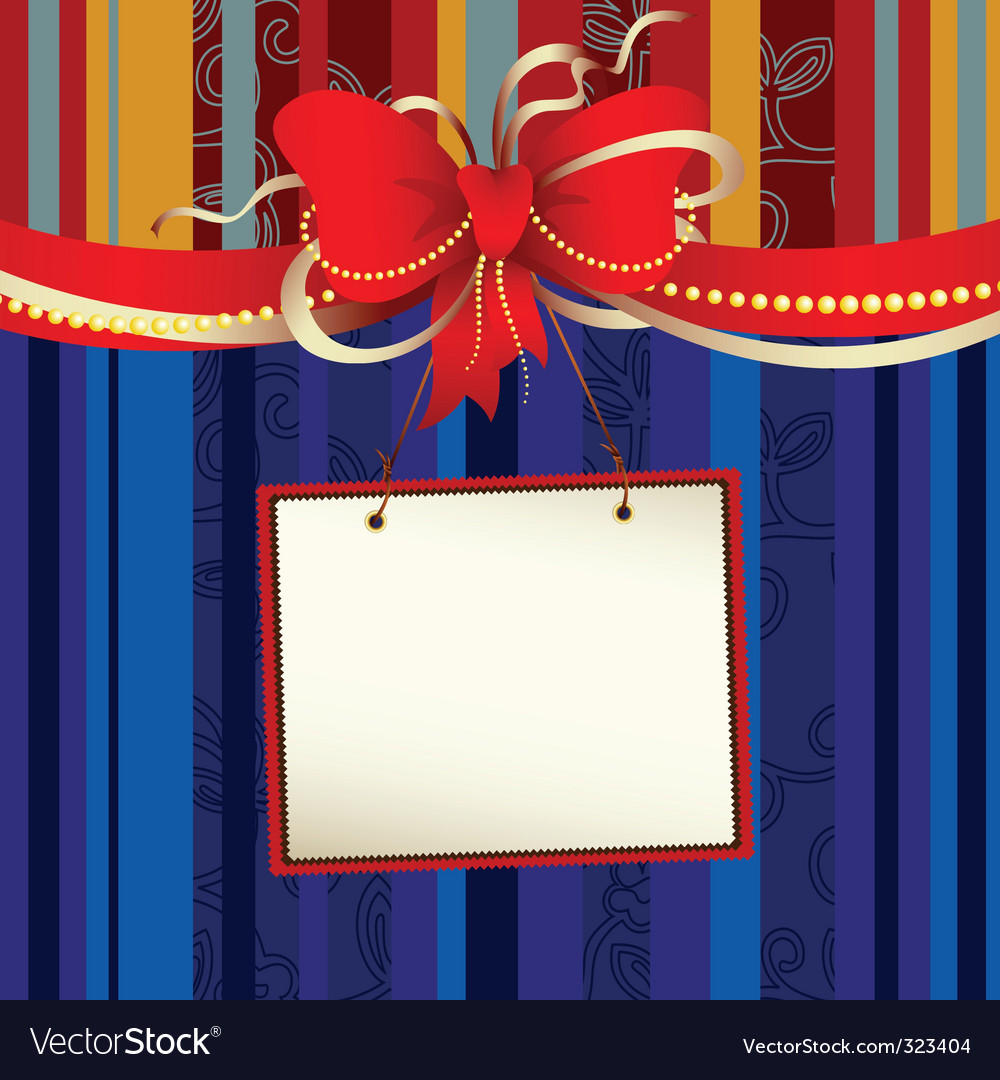 Tag with bow vector   Price: 1 Credit (USD $1)