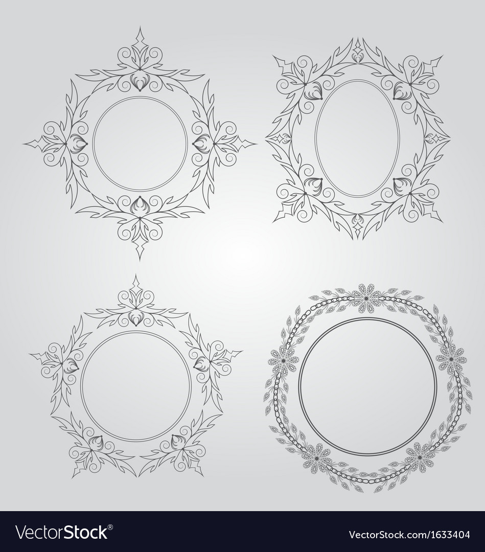 Vintage frames design vector | Price: 1 Credit (USD $1)