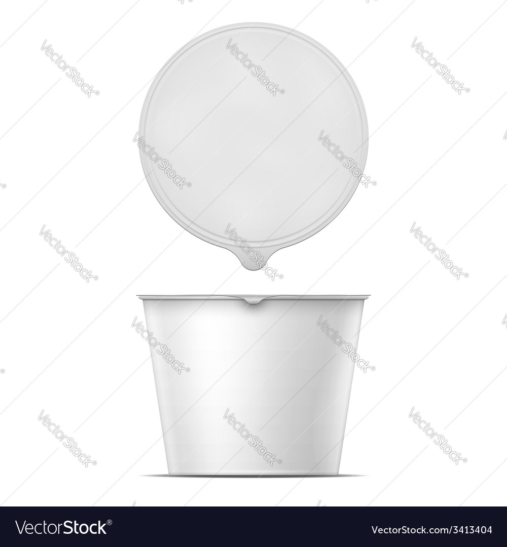 White instant noodles bowl template vector | Price: 1 Credit (USD $1)