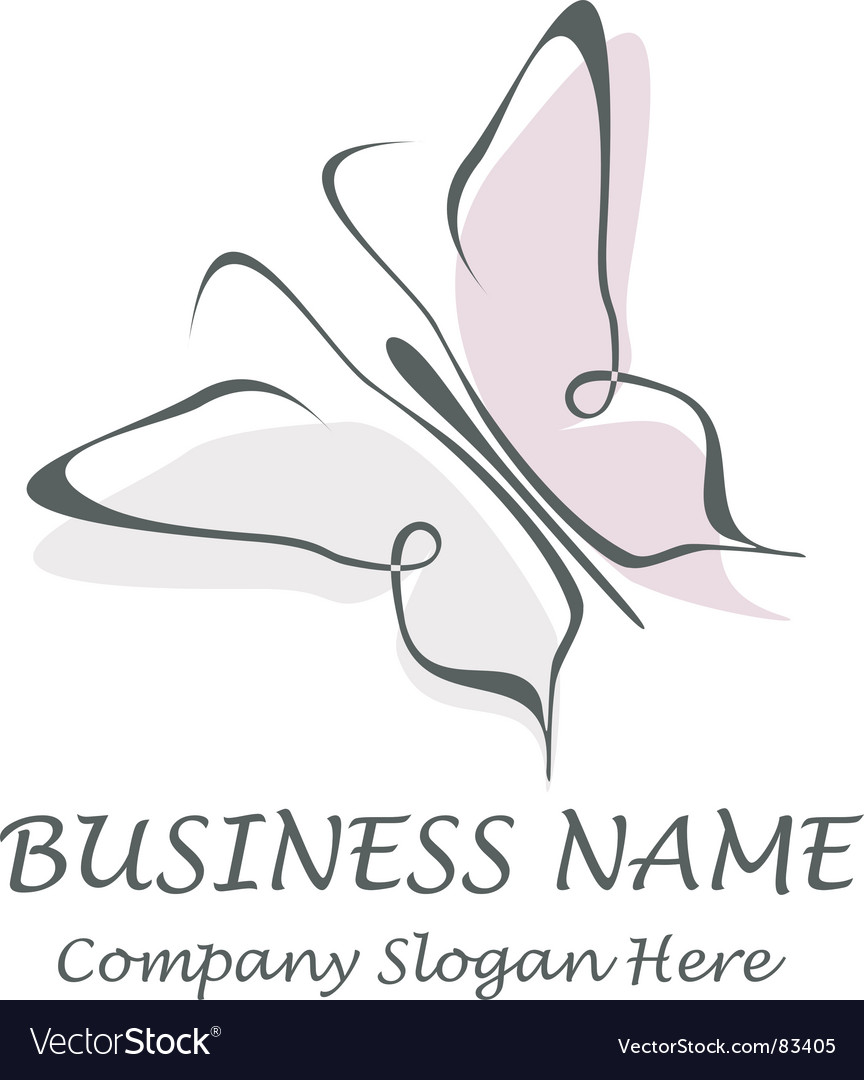 Butterfly company name slogan vector | Price: 1 Credit (USD $1)