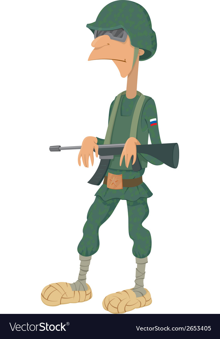 Cartoon of russian soldiers vector | Price: 1 Credit (USD $1)