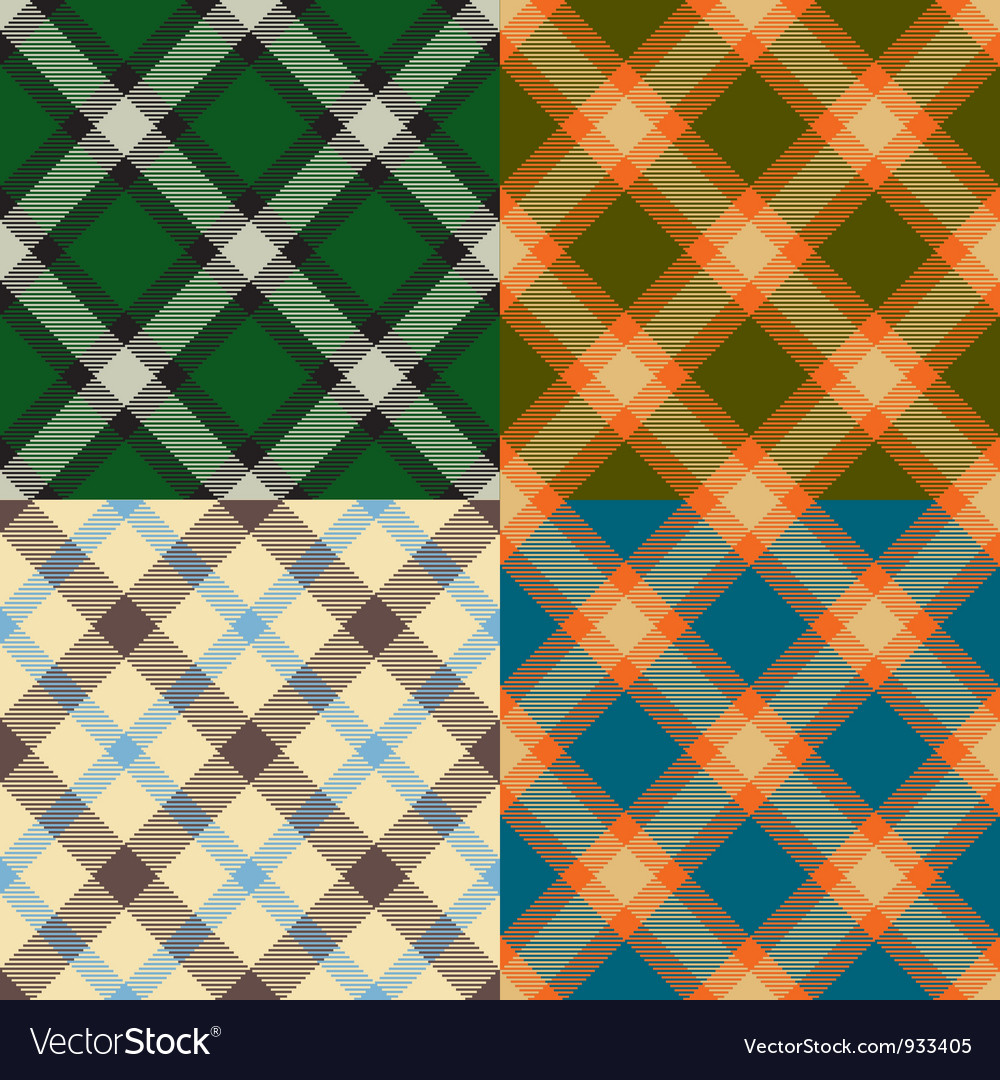 Color plaid patterns set vector | Price: 1 Credit (USD $1)