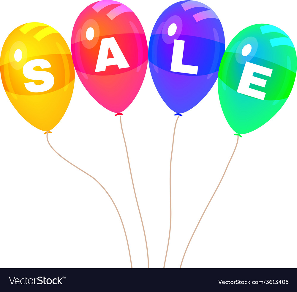 Colorflus balloons sale vector | Price: 1 Credit (USD $1)