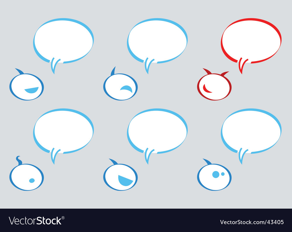 Communication balloons vector | Price: 1 Credit (USD $1)