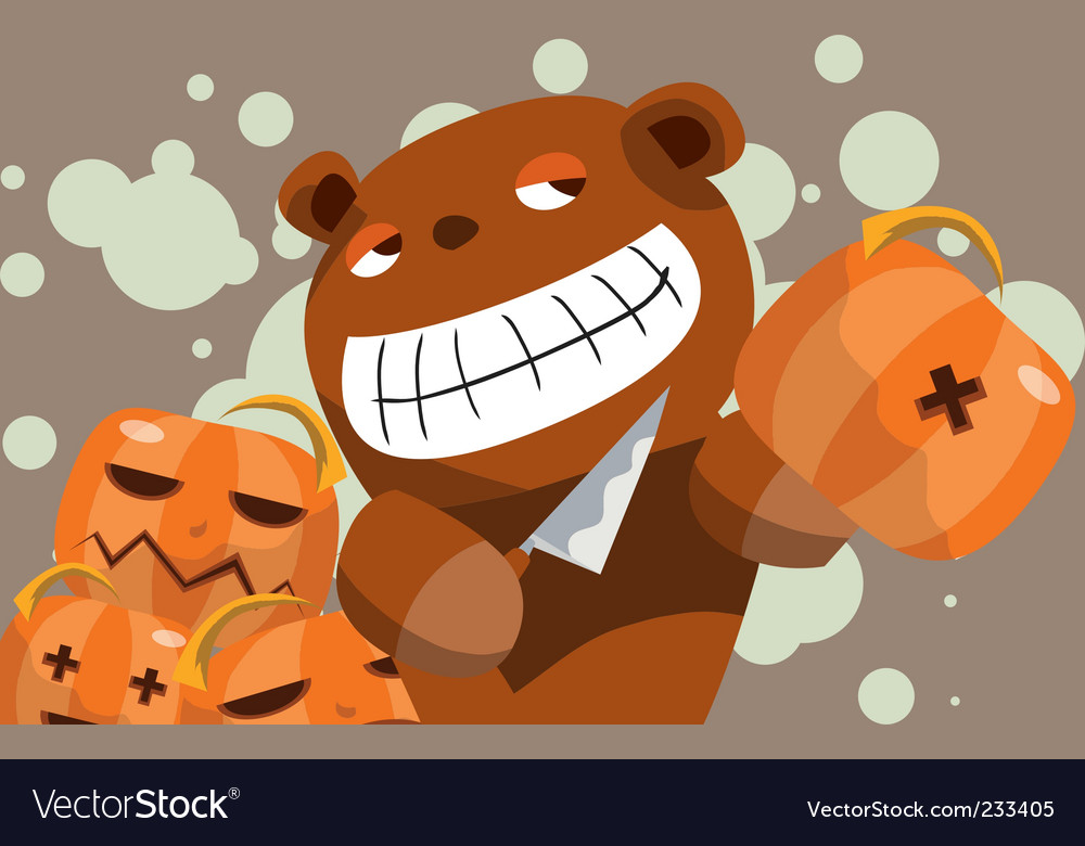 Evil teddy vector | Price: 3 Credit (USD $3)