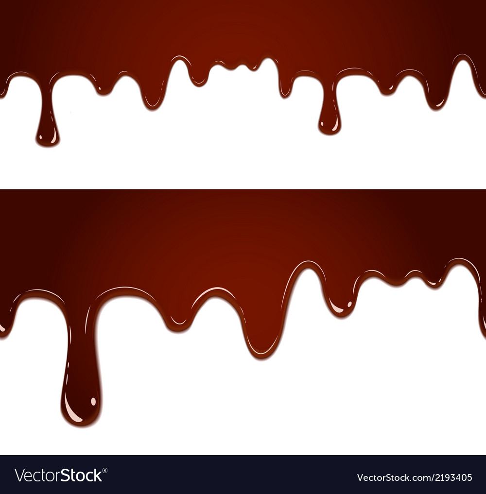 Flowing melted chocolate vector | Price: 1 Credit (USD $1)
