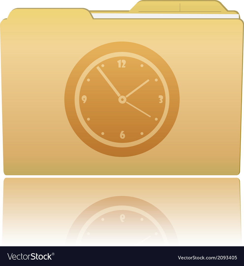 Folder with clock vector | Price: 1 Credit (USD $1)