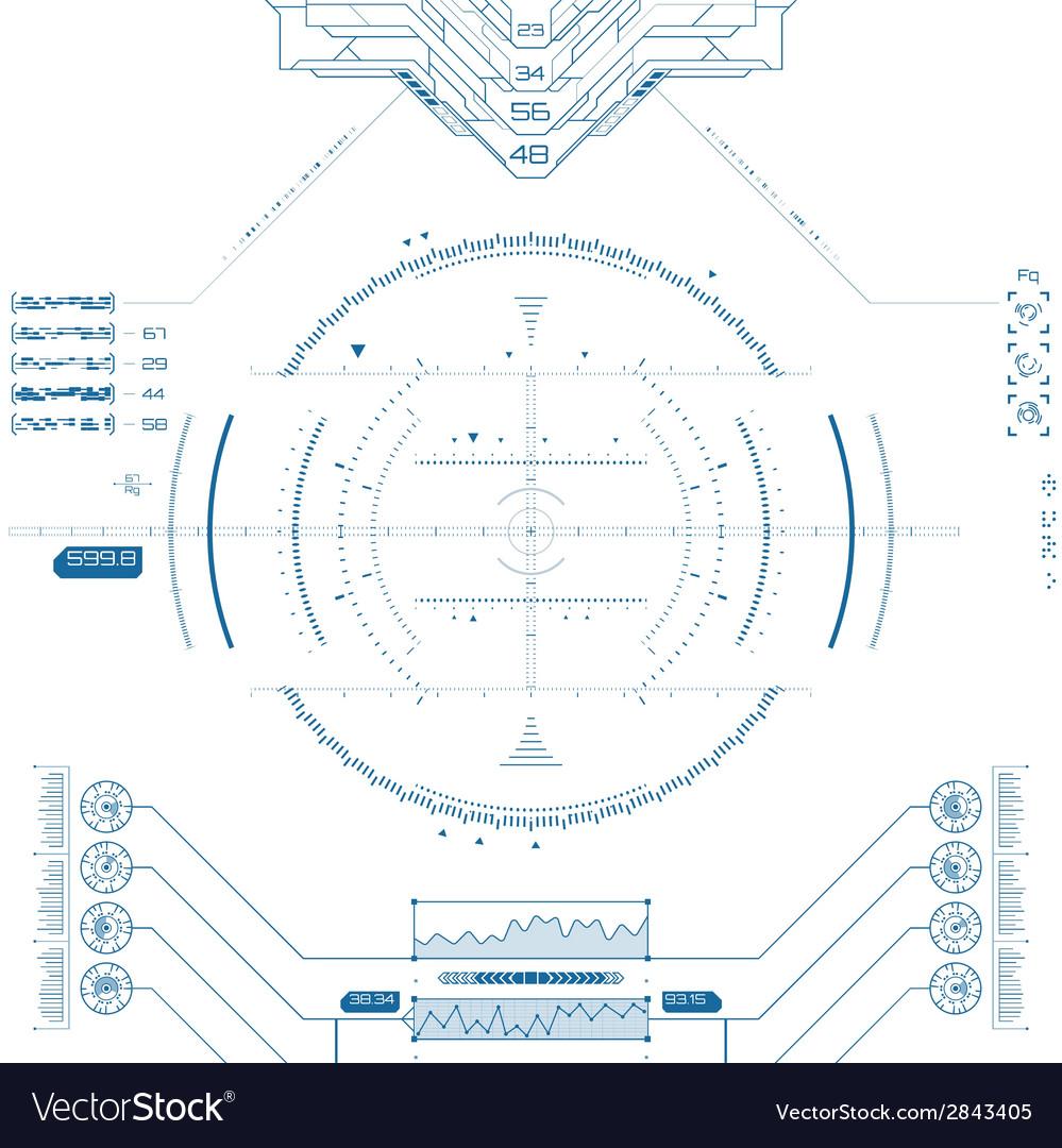 Futuristic graphic user interface vector | Price: 1 Credit (USD $1)