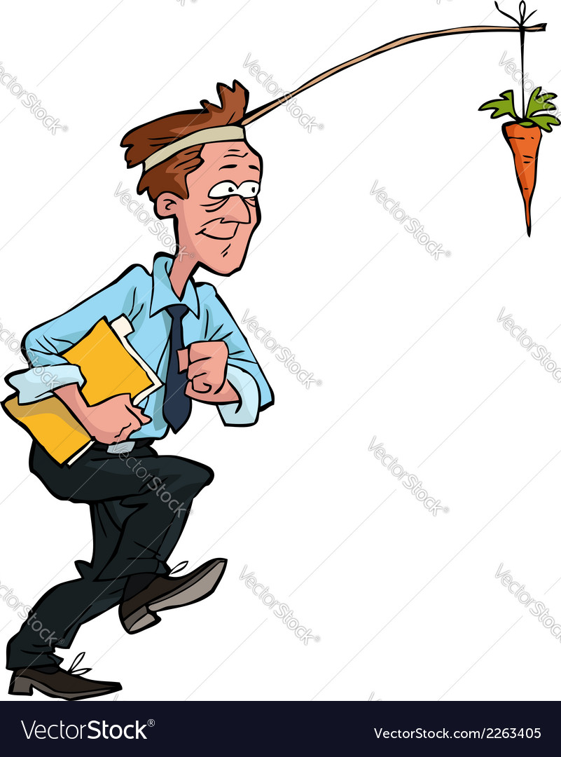 Office worker goes for carrots vector | Price: 1 Credit (USD $1)